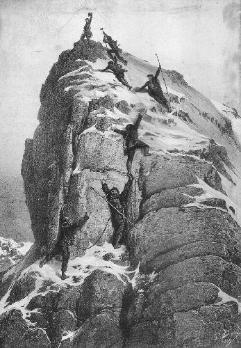 Первое покорение Маттерхорна членами Alpine Club под руководством Эдуарда Уимпера 14 июля 1865 года