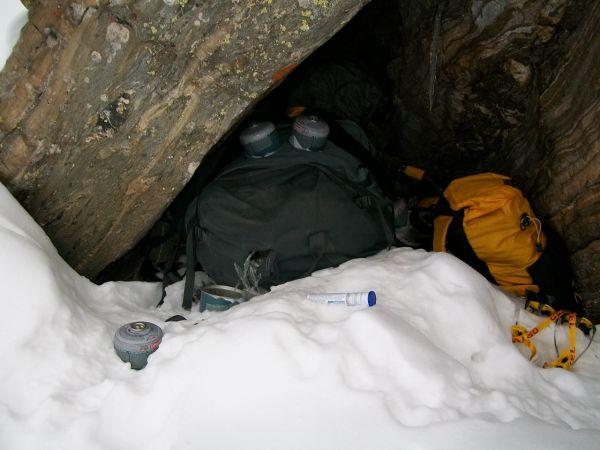 Высотный лагерь Camp2 Джоэла Вишнески (Joel Wischnewski) на склоне Нанга Парбат
