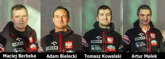 Мачей Бербека (Maciej Berbeka) , Адам Белецкий (Adam Bielecki), Томас Ковальски (Tomasz Kowalski) и Артур Малек (Artur Malek)