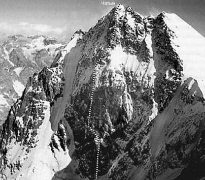 Восхождение на вершину Чатын-тау по С ст. , 6а