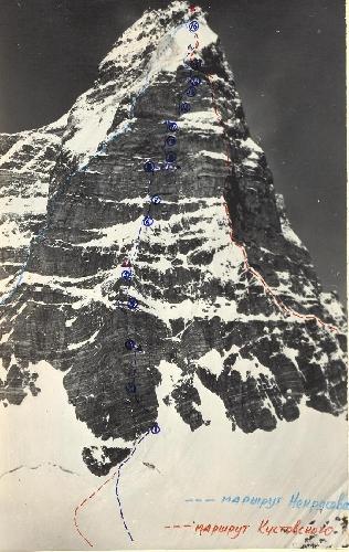 пик Энгельса - маршруты по Восточной стене