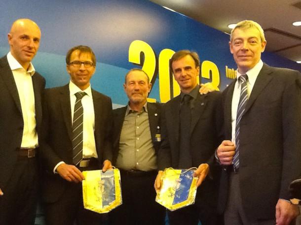 Слева-направо  Stefano Tamburini, Wolfgang Wabel, Ariano Amici, Marco Scolaris, Roberto Bresciani