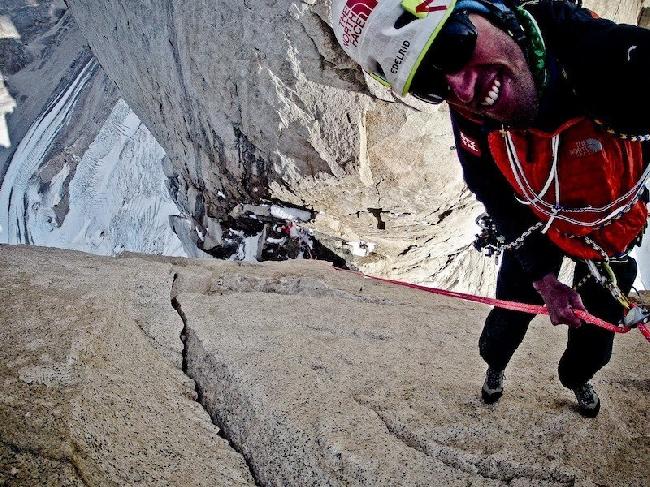 Hansjörg Auer спуск с Cerro Standhardt.
