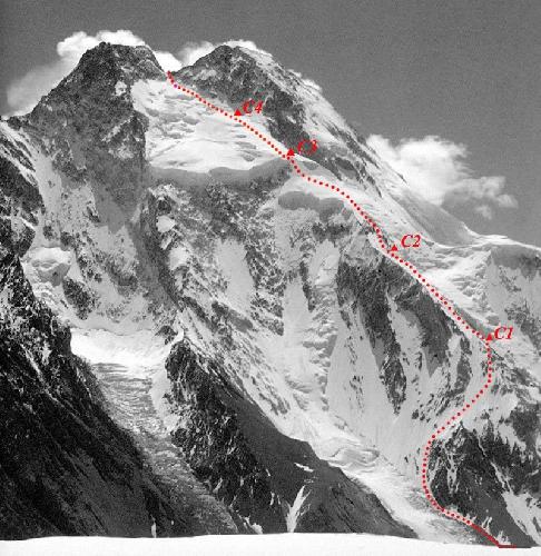 Броуд Пик (Broad Peak, 8047м), маршрут польской команды