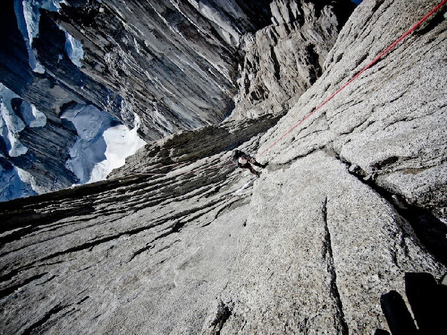 Во время спуска спуска с Cerro Standhardt.