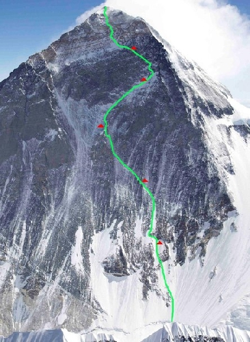 планируемый новый маршрут на Эверест Урубко и Болотова