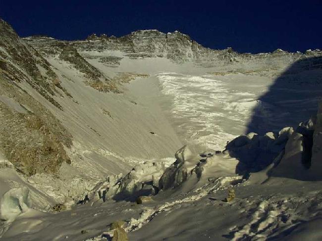 Взгляд на Лхоцзе. Geneva Spur – слева