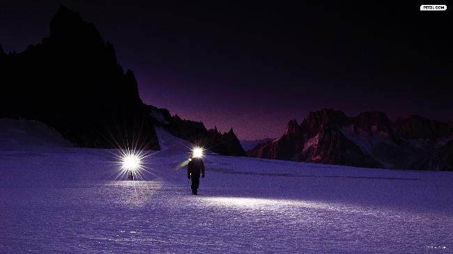 Переход по Combe Maudite, массив Mont-Blanc.