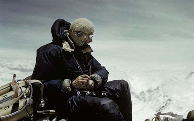 Джордж Лоу (George Lowe) на склонах Эвереста