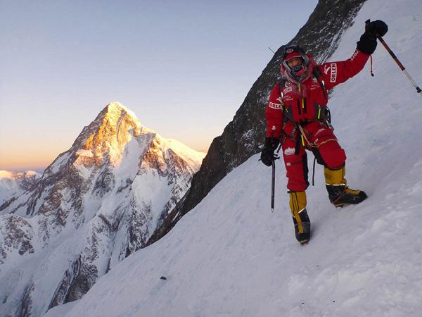 Адам Белецкий во время восхождения на вершину Броуд Пик