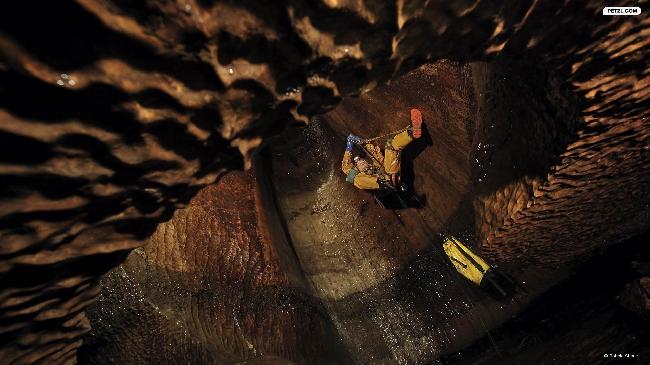 """""""жумаринг"""" в пещере Ireby Cavern, Йоркшир, Англия"""