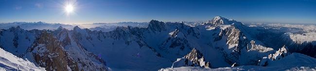 Панорама с верхней части Aiguille Verte