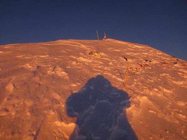 Закат на вершине Броуд Пик (фото Артур Малек)