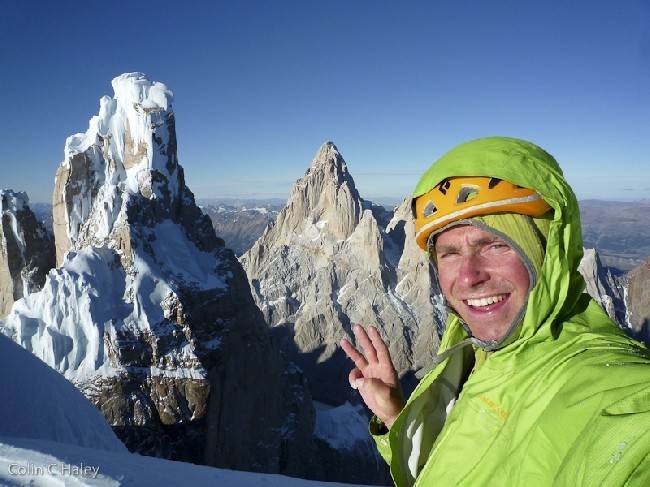 На вершине Cerro Adela Norte. Моя третья вершина за день