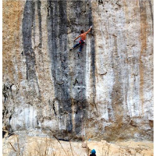 """Крис Шарма (Chris Sharma) на маршруте """"La Dura Dura"""" 9b+ 23 марта 2013 года"""