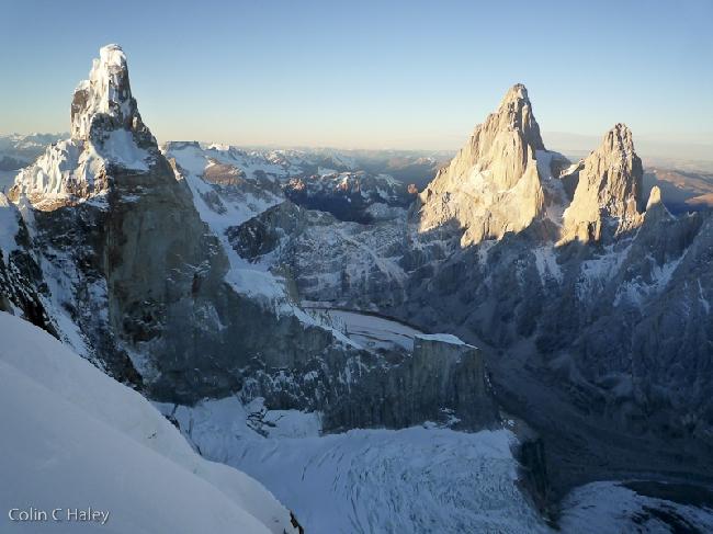 Закат на Cerro Torre, Fitz Roy и Aguja Poincenot