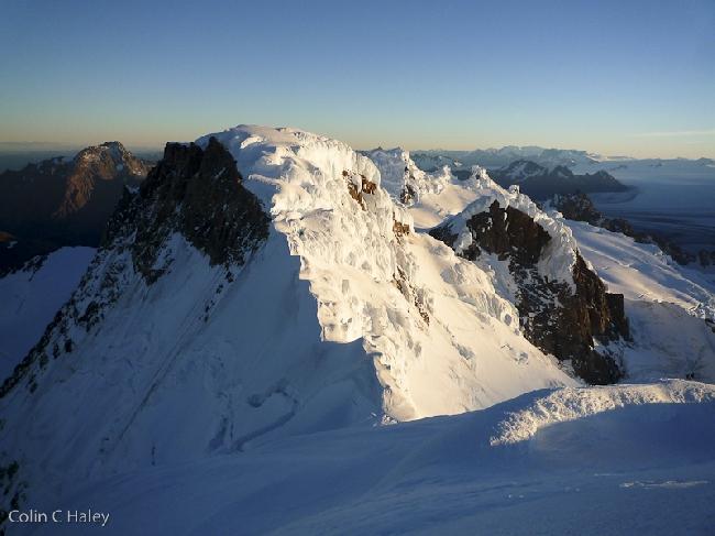 Закат на Северном хребте Cerro El Ñato. Моя ночевка была чуть ниже вершины
