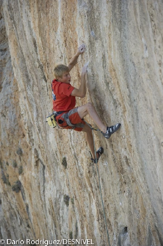 Александр Мегос (Alexander Megos) на фестивале Kalymnos Climbing Festival 2012