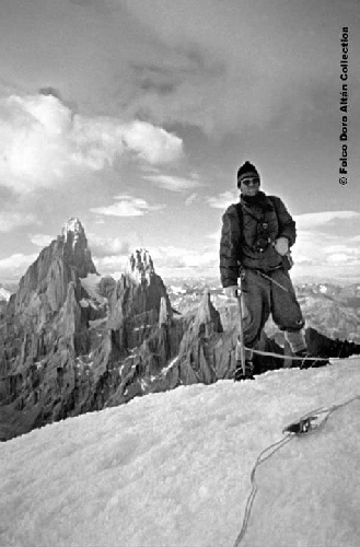 на вершине Adela Central, 1958 год