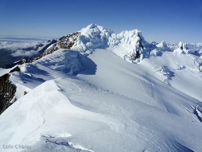 Северный хребет Cerro Grande с вершины Cerro El Doblado
