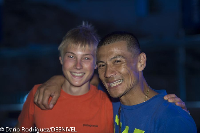 |Александр Мегос (Alexander Megos) и Yuji Hirayama на фестивале The North Face Kalymnos Climbing Festival 2012