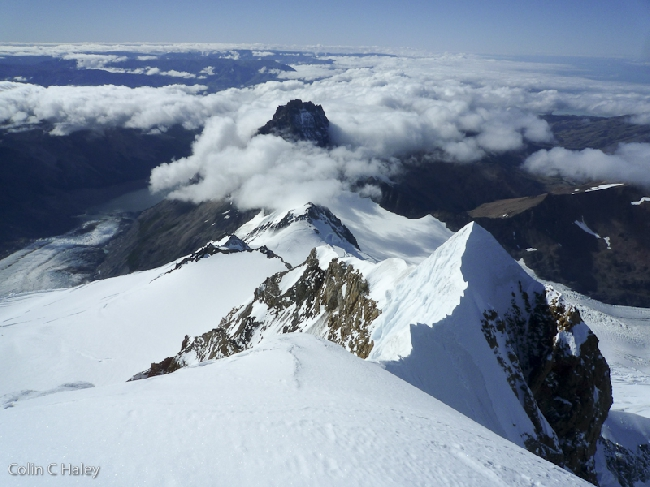 ВИд на восточный хребет Cerro Grande, по которому я отказался спускаться