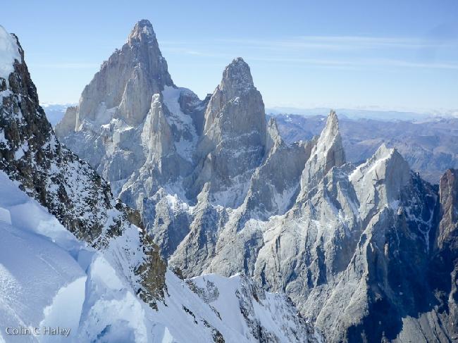массив Fitz Roy  - вид с перевала Col Trento
