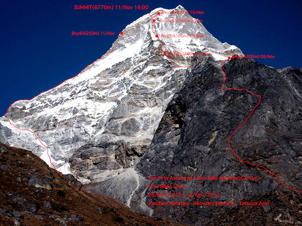 "Маршрут ""Nima Line"" на вершину Kyashar по Южному столпу"