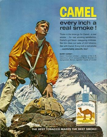 один из спонсоров Американской экспедиции на Эверест табачная компания American Tobacco Company