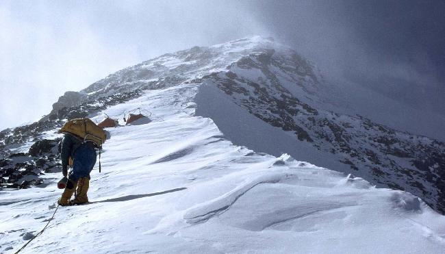 Лют Джестад (Lute Jerstad) недалеко от высотного лагеря Camp6 на Эвересте. 1963 год