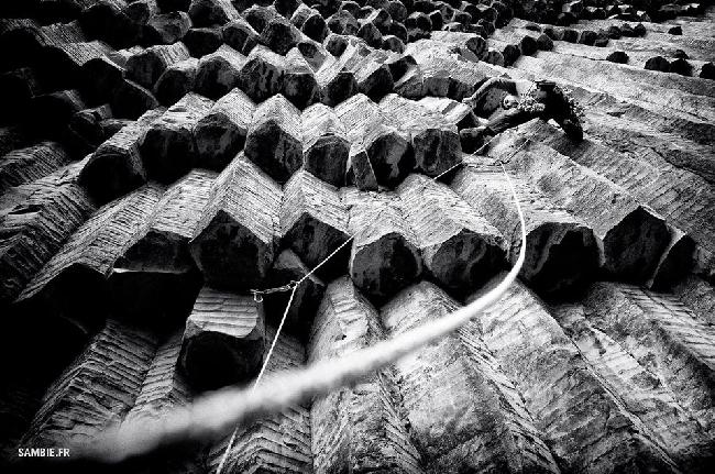 "Alex Chabot на потрясающем маршруте ""Pixelization"" (5.12a) в ущелье Garni, Армения"