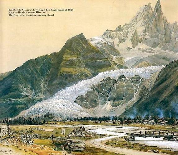 ледник Мер-де-Глас (Mer de Glace). 1823 год