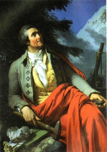 Орас Бенедикт де Соссюр (Horace Benedict de Saussure). Портрет работы Jean-Pierre Saint Ours, 1796 год .
