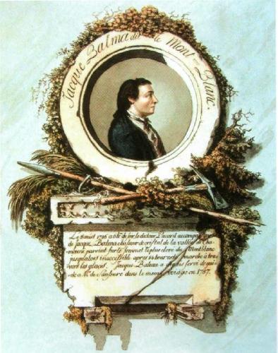 Жак Бальма (Jacques Balmat). Портрет на медальоне работы Bacler d