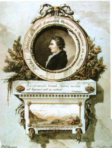 Мишель Габриэль Паккар (Michel Gabriel Paccard). Портрет на медальоне работы Bacler d