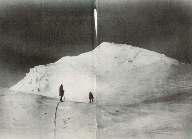 Хершель Клиффорд Паркер (Herschel Clifford Parker) и  Белмор Браун (Belmore Browne) в нескольких сотнях метрах от вершины Мак-Кинли. июнь 1912 года