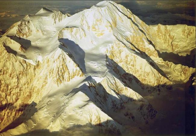 Мак-Кинли. вид на западный контрфорс. Mount McKinley West Buttress