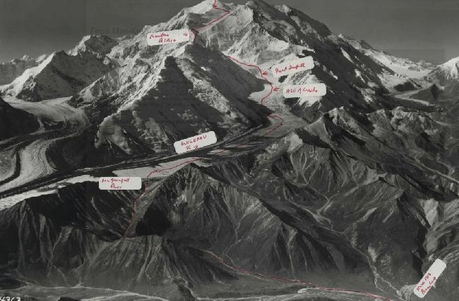 маршрут первопокорения Мак-Кинли экспедицией Хадсона в 1913 году