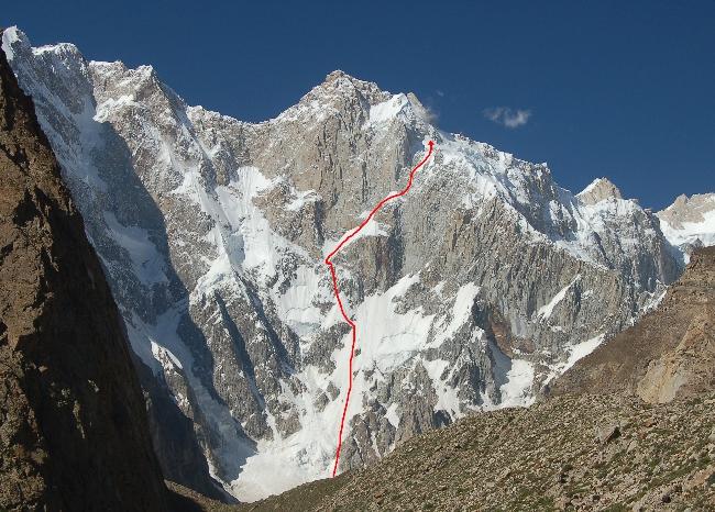 Kunyang Chhish East (7400м). Маршрут восхождения по Юго-Западной стене