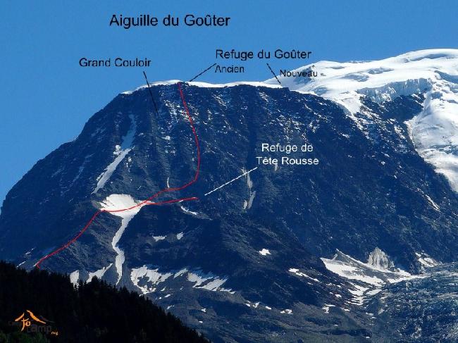 "IMAGE [ [ 5218 | | center | |  ""Tête-Rousse"" и хижина Goûter на склонах Монблана ] ]"