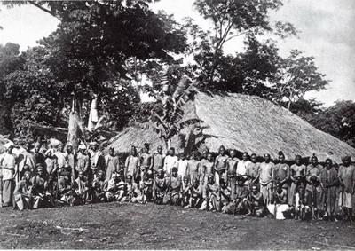 Носильщики экспедиции Майера-Пурчеллера на Килиманджаро