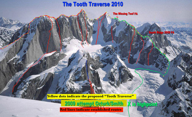 """Tooth Traverse"" (Ruth Gorge, Аляска)."