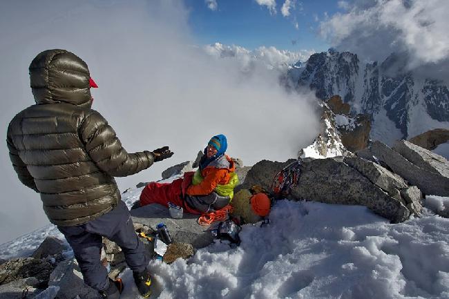 Бивуак на вершине Argentiere