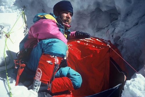 Артур Хайзер (Artur Hajzer) на восьмитысячнике Лхоцзе. Фото Krzysztof Wielicki