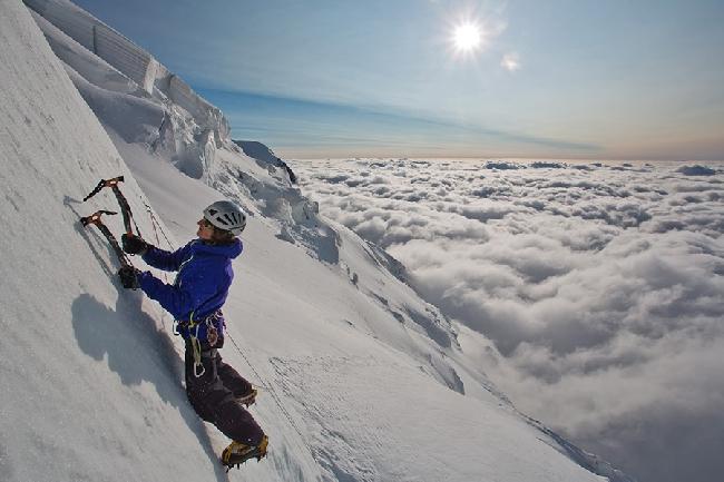 Tom Grant на сераках Mont Blanc du Tacul
