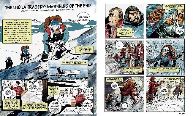 Трагедия на Эвересте 1989 года с польскими альпинистами и спасоперация под руководством Артура Хайзера в комиксе на страницах журнала Alpinist