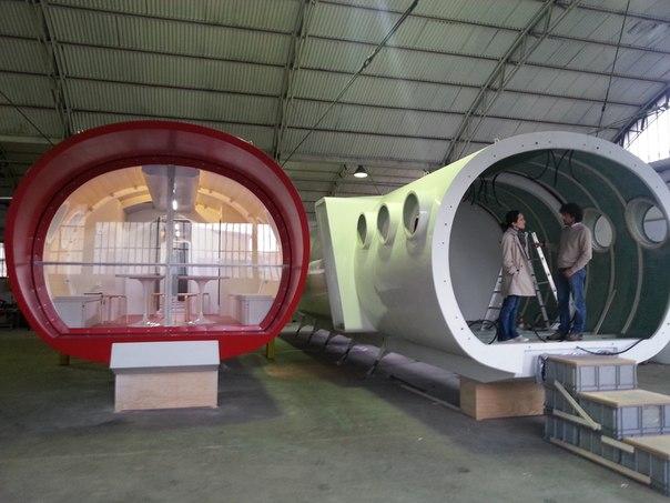 хижины LEAPRUS в монтажном цехе в Италии