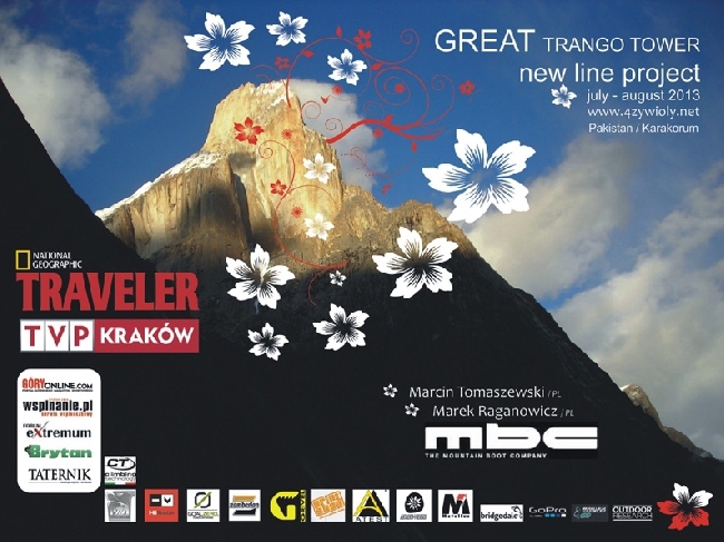 """Польский проект """"4 Elements"""" (4 Żywioły) на Большую Башню Транго (Great Trango Tower, 6286м)"""