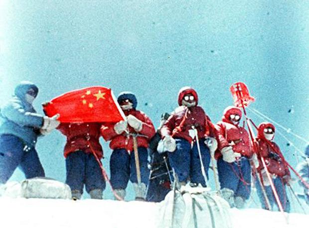 китайская команда 1975 года на Эвересте