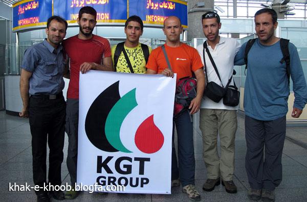Участники Иранской команды (Айдин Бозорги (Aidin Bozorgi), Пойя Кейван (Pouya Keivan) и Моджтаба Джарахи (Mojtaba Jarahi) ) на Броуд Пик перед началом экспедиции. Исламабад, июнь 2013 года